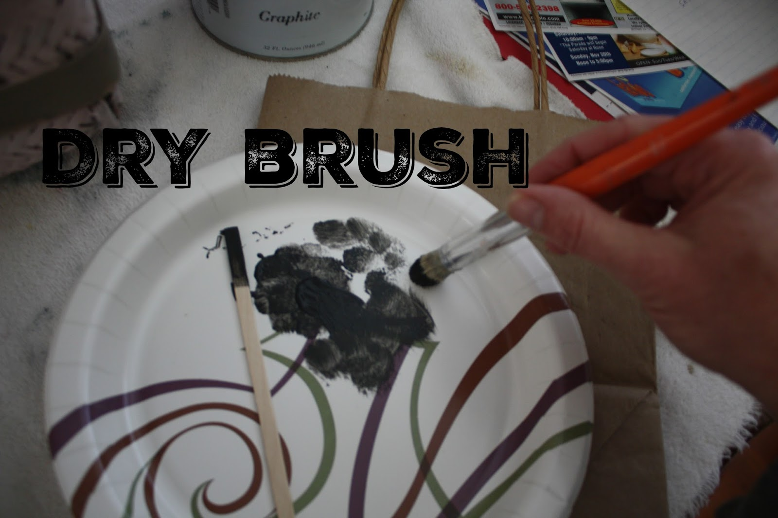 Use a small amount of paint (dry brush) and pounce over stencil