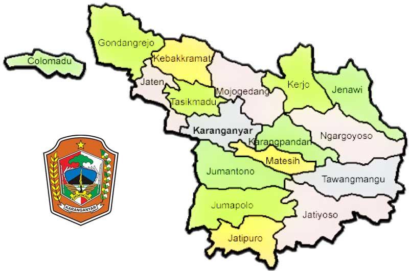 4 Peta Kabupaten Karanganyar, Jawa Tengah - Peta Dunia ...