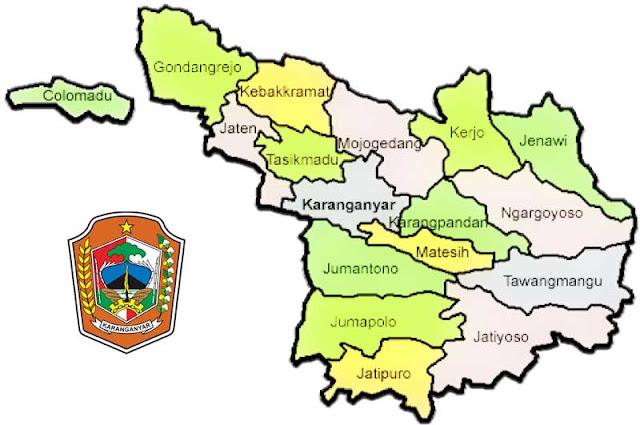 Gambar Peta Kecamatan Kabupaten Karanganyar