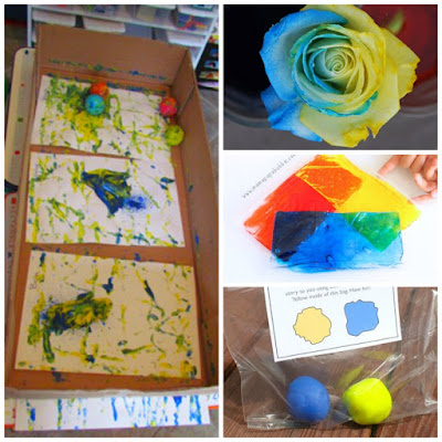 Little Blue And Little Yellow crafts and activities, part of Leo Lionni author study