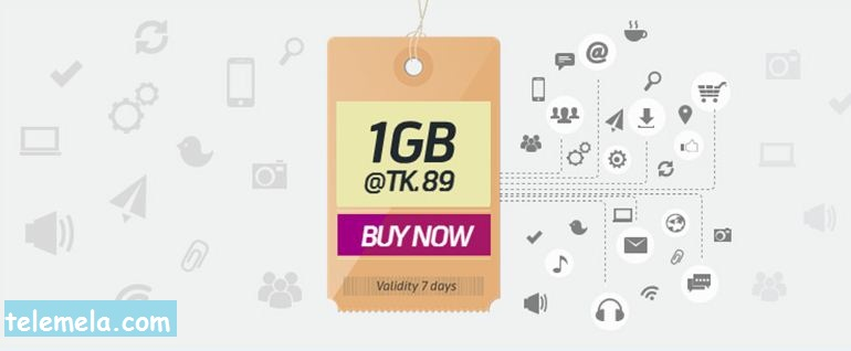 Grameenphone 1GB internet at 89 Tk