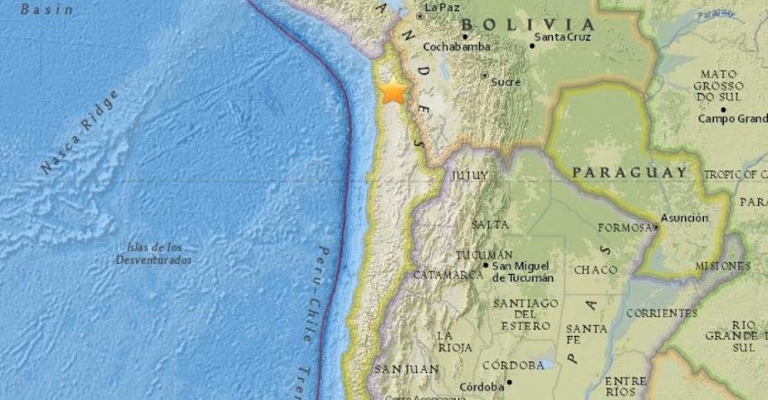 FUERTE SISMO EN CHILE de magnitud 5.3 (Hoy Viernes 3 Agosto 2018) Terremoto Temblor Epicentro - Camiña - Arica - Parinacota - Tarapacá - Antofagasta - ONEMI - www.onemi.cl