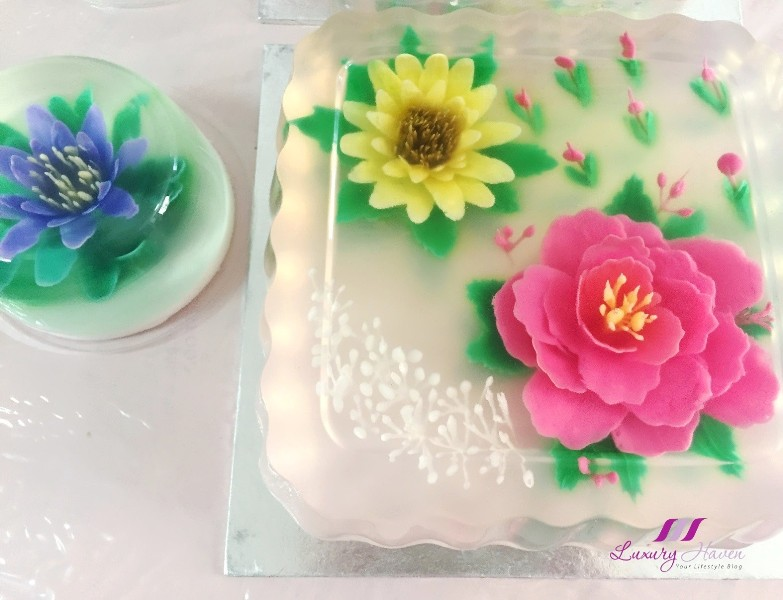 creative 3d jelly food art beautiful konyaku flowers