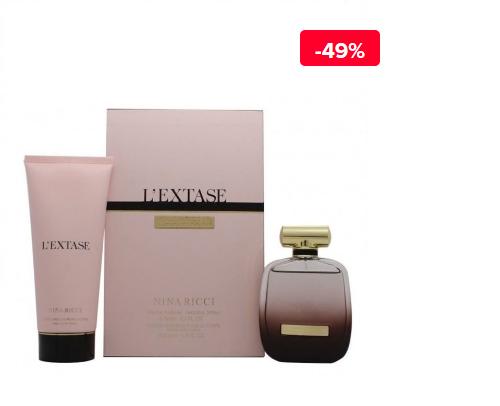 Set cadou femei Nina Ricci L'extase (Apa de parfum 80 ml + Lotiune de corp 200 ml)