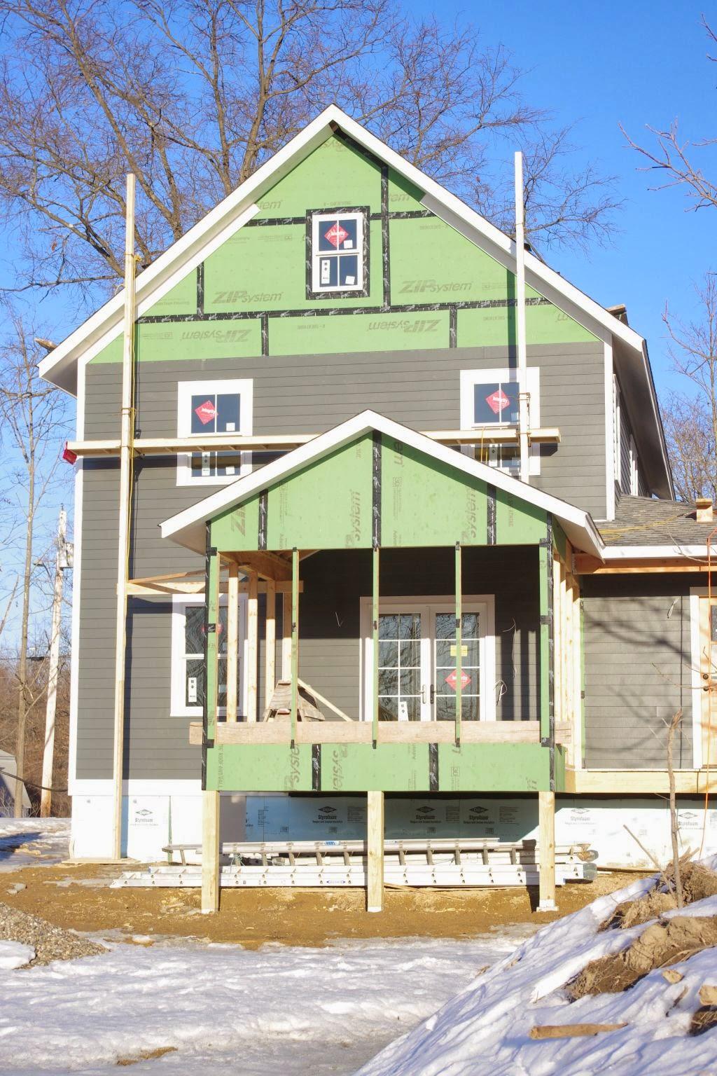 The New House Next Door Scaffolding