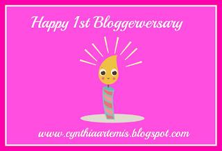 Happy Belated 1st Bloggerversary!