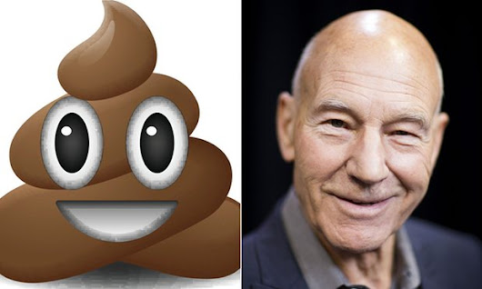 SIR PATRICK'S NEXT ROLE IS A PILE OF POOP