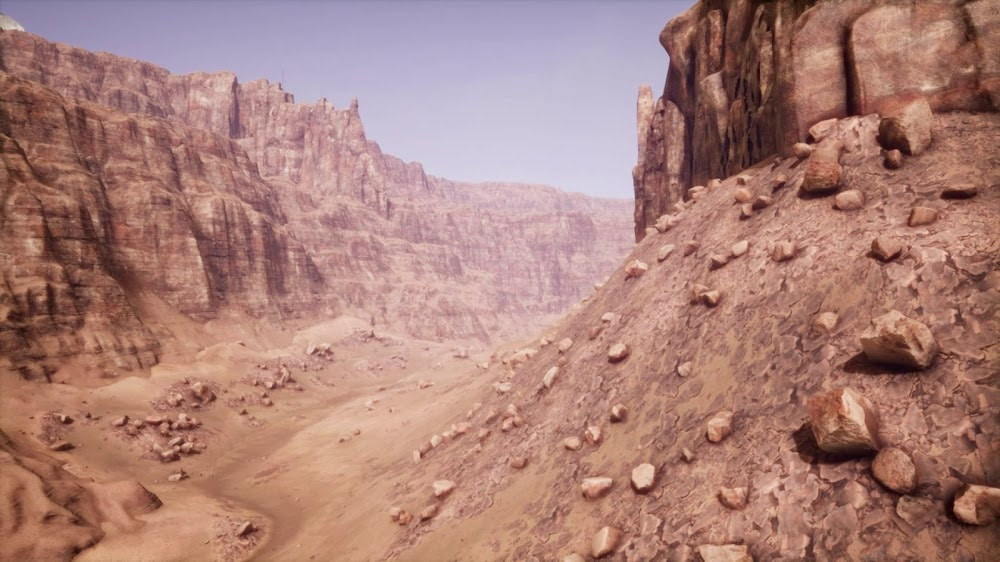 Memories of Mars game image - canyon