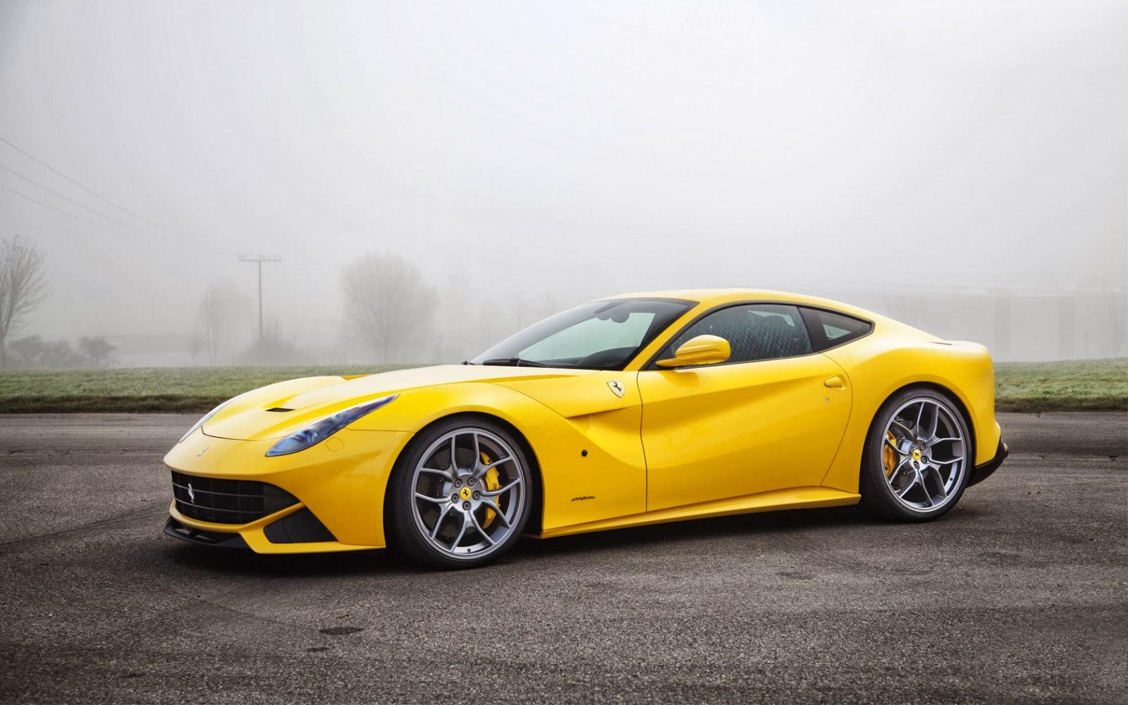 Fondo De Pantalla Coche Ferrari Amarillo