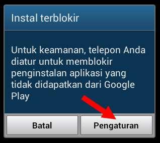 Cara install aplikasi android yang diunduh selain dari Playstore