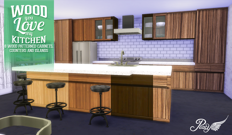 simsational designs wood you love my kitchen. Black Bedroom Furniture Sets. Home Design Ideas