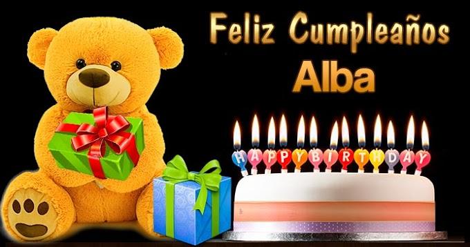 Feliz Cumpleaños Alba