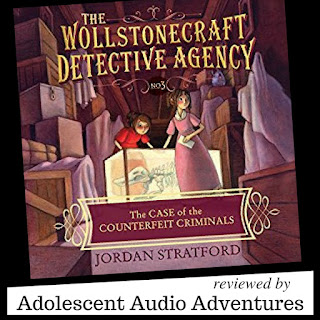 The Case of the Counterfeit Criminals Audiobooks reviewed by Adolescent Audio Adventures