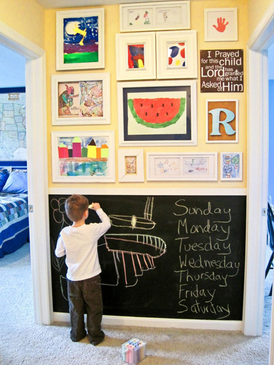 House Room Drawings: Incorporating Children's Artwork Into Your Home Decor