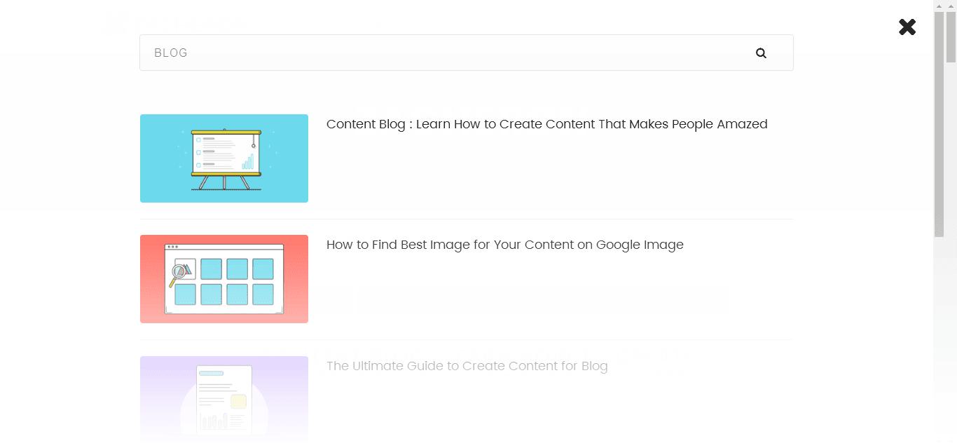 Zacheron dilengkapi dengan Custom Article Search yang menggunakan AJAX