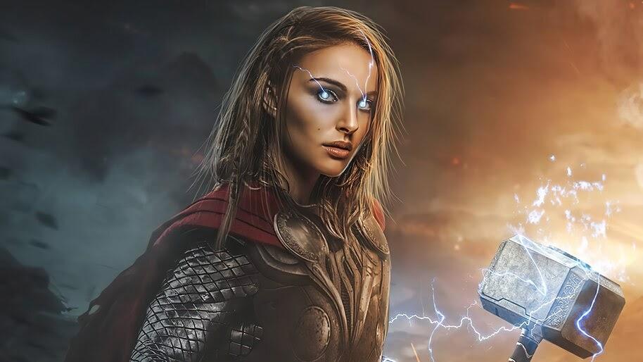 Lady Thor, Hammer, Jane Foster, 4K, #6.2402