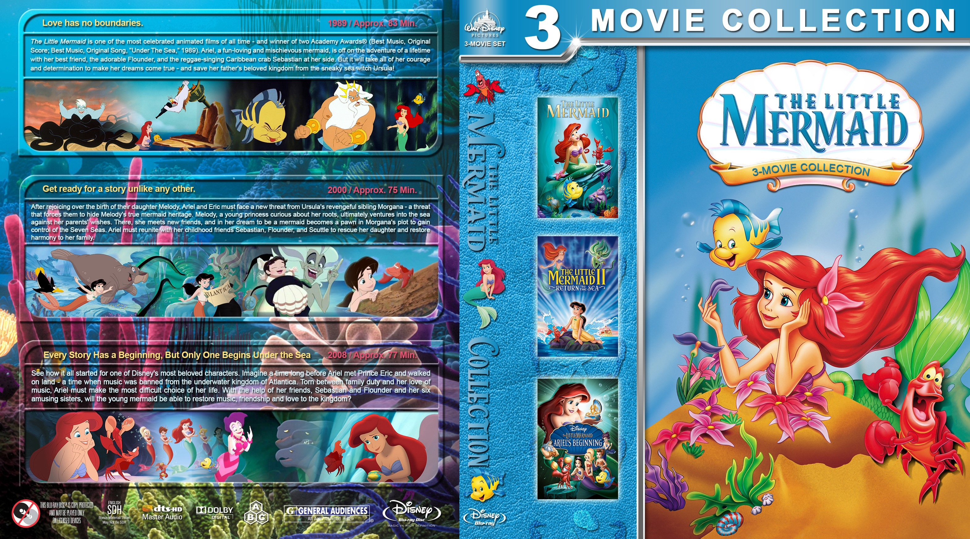 The Little Mermaid Collection Bluray Cover - Cover Addict -3101