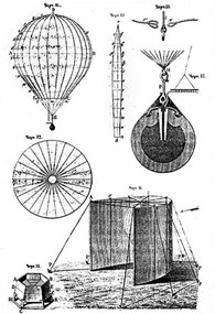 An artist's impression of how the balloon bombs may have looked