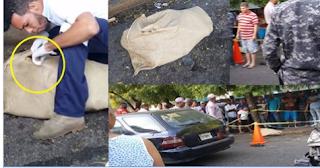 EN villa juana Encuentran mujer dentro de un saco atada de manos y pies, aquí el video cuando el legista está abriendo el saco..