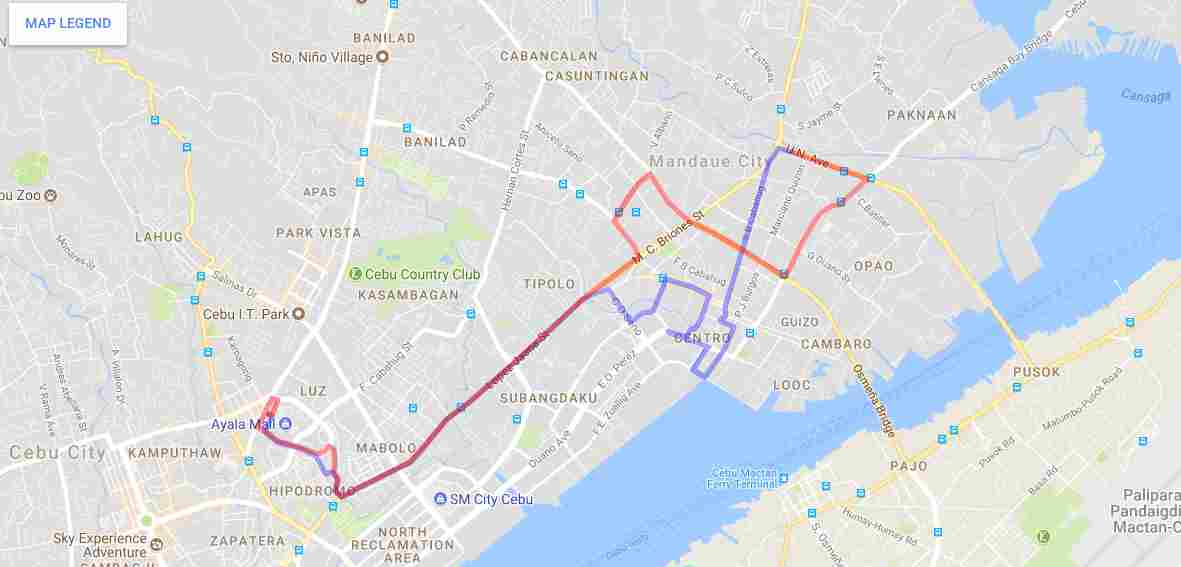 Ride a Jeepney in Cebu and its Travel Routes Code 20b even and 20b odd Destination Mandaue Map Best of Philippines 2018