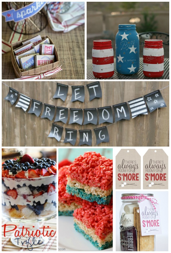 Celebrate America with these fabulous Red, White and Blue projects and recipes.  - Littlehouseoffour.com