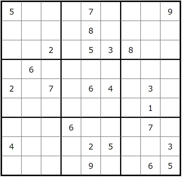 andrew s sudoku puzzles sudoku puzzle no 85 easy