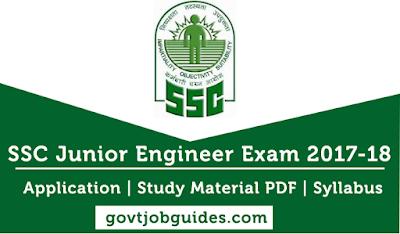 SSC Junior Engineer JE Notification 2017-18