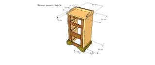 Diseño de estructura de gavetero