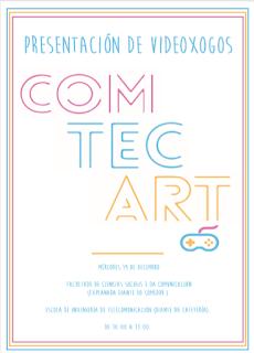 ¡Mañana es la presentación de los videojuegos de #Comtecart2018!