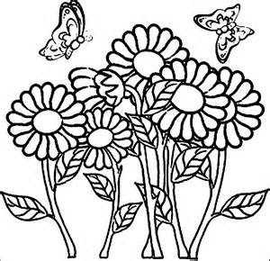 Adorable Butterfly With Flower Animals Coloring Pages