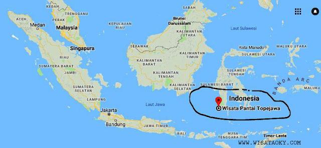 Peta Wisata Pantai Topejawa Takalar Sulawesi Selatan
