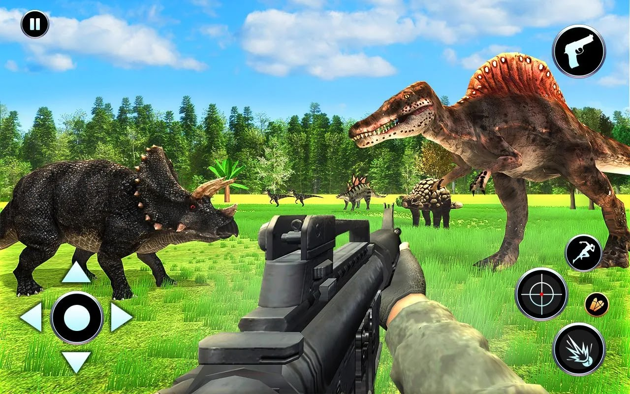 Dinosaur Hunting Games Unblocked    SajidAcademy Dinosaur Hunting Free is the best dino hunting game with ancient to modern  weapons and Jeep Driving in the beautiful 3D real world with green plants