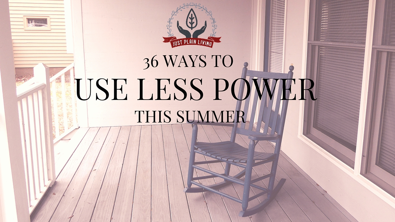 Of course you can lower your power bill even in the hot summer. Check out these 36 ideas that will help keep you cool and comfortable while saving you some money.