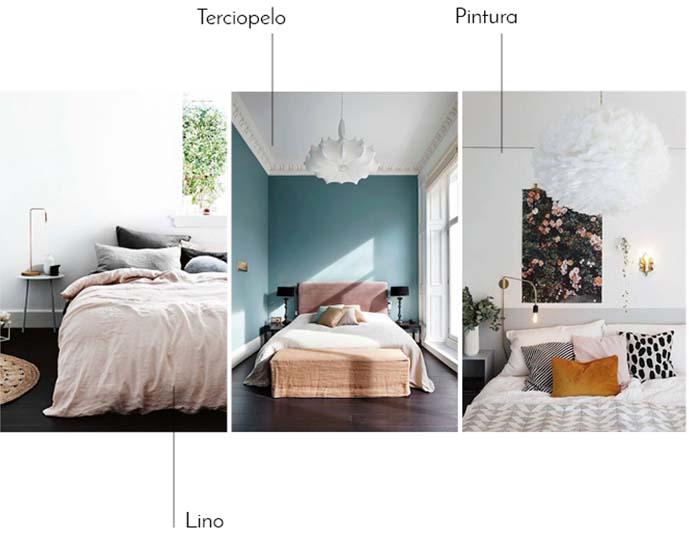tendencias dormitorio 2017 lino terciopelo