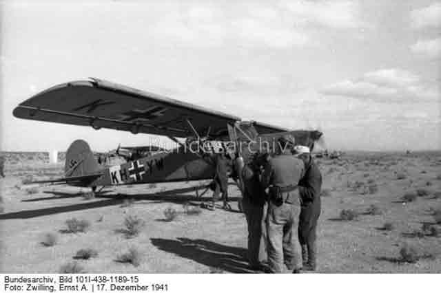 Fieseler Storch in North Africa, 17 December 1941 worldwartwo.filminspector.com