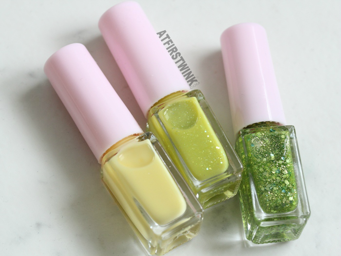 Etude House Juicy Cocktail gradation nails 8 - Lime Squash nail polishes