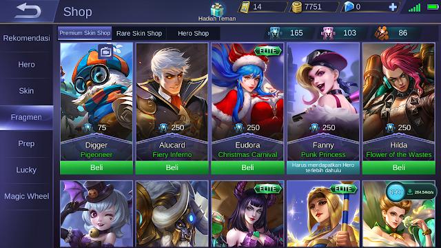 Update Baru Skin Dan Hero di Fragment Shop Ada Apa Aja? 1