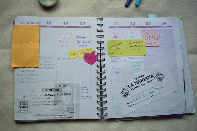 Cómo me organicé en 2017: mi agenda y mi sistema.