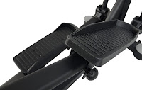 "JTX Zenith gym-quality 21"" stride, ergonomic footplates, 150mm Q-factor"
