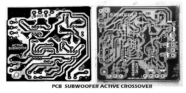 PCB Subwoofer Filter Crossover circuit