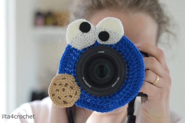 szydełko, fotografia, fotografia dzieci, ciasteczkowy potwór, nakładka