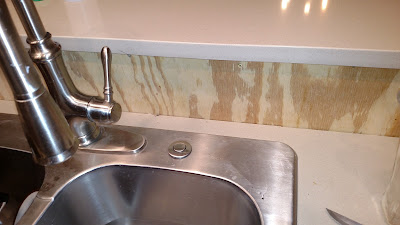 Quartz Countertop, Awaiting Tile Backsplash