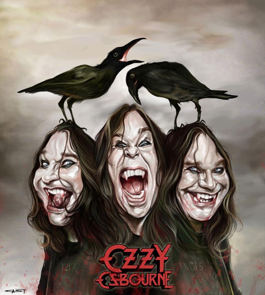 Ozzy Osbourne por Sebastián Cast