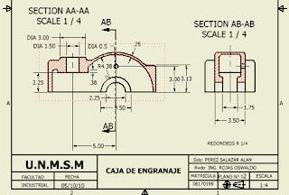 Secciones o Cortes en Autodesk Inventor