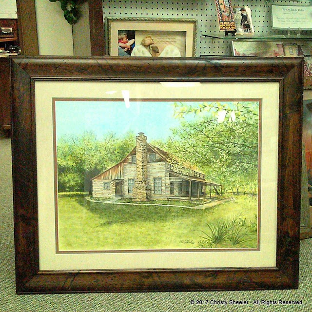 The Ivy Ranch on the Brazos River with double mat and frame.