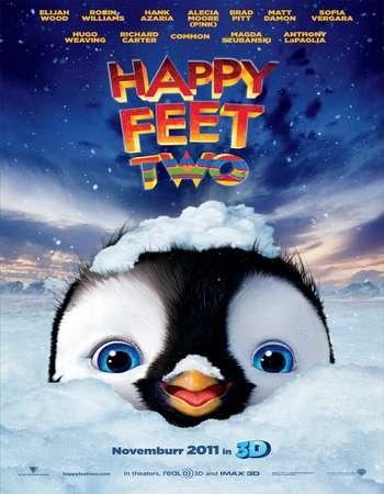 Poster Of Happy Feet 2 2011 Dual Audio 120MB BRRip ESubs HEVC Mobile Free Download Watch Online Worldfree4u