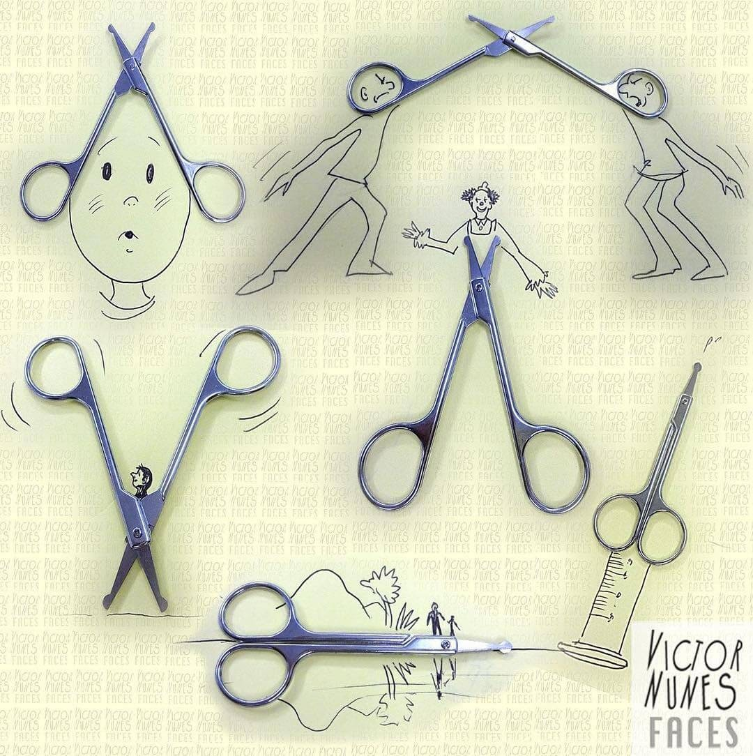 05-Scissors-Victor-Nunes-Drawing-Everything-out-of-Anything-www-designstack-co
