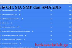 Contoh Format OJL (On The Job Learning) Kepala Sekolah SD, SMP dan SMA 2015
