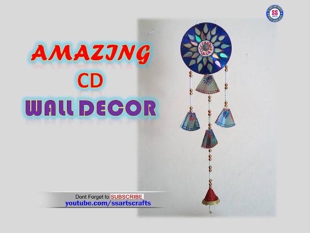 Here is how to make old cd or dvd's,upcycle cd crafts,cd wall decor ideas,cd wall hanging ideas,how to reuse old cd or dvd's,cd pen stand,cd wall decor,wall hangings,cd flower vase,home decoration with old cd,cd and wool wall hanging,best out of waste cd craft ideas,cd decor,wall art,kids  crafts,how to make cd wall decor for home decoration ssartscrafts youtube channel videos