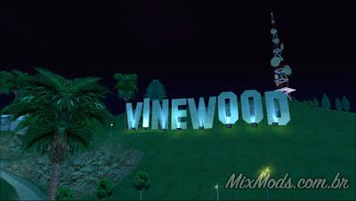 gta sa mod vinewood sign with lights